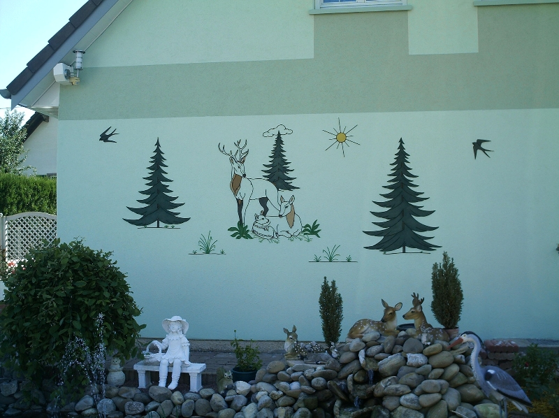 Decoration murale fer forge animaux for Deco exterieur fer forge