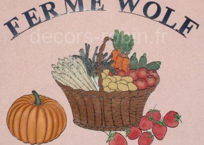 Décor Panier Fruits et Légumes Réf.630